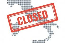 Coronavirus: chiuse le attività commerciali al dettaglio e pubblici esercizi fino al 25 marzo 2020